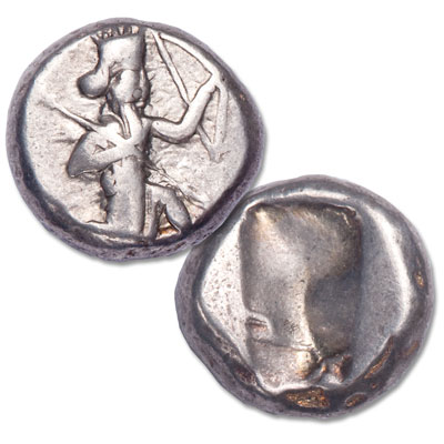 Image for 455-420 B.C. Persia Silver Siglos, Bow and Spear Type from Littleton Coin Company