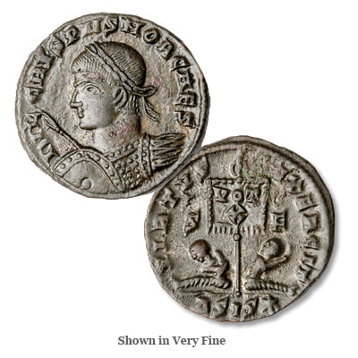 Image for A.D. 316-326 Crispus Bronze Reduced Follis from Littleton Coin Company