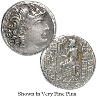 Image for 59-16 B.C. Philip I Philadelphus under Julius Caesar/Augustus Silver Tetradrachm from Littleton Coin Company