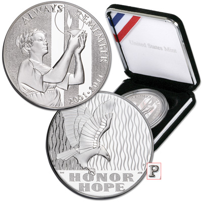 Image for 2011-P 10th Anniversary September 11 National Medal from Littleton Coin Company