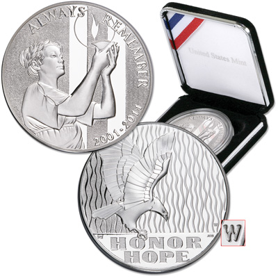 Image for 2011-W 10th Anniversary September 11 National Medal from Littleton Coin Company