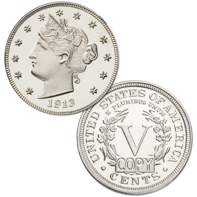Image for 1913 Liberty Head Nickel Replica from Littleton Coin Company