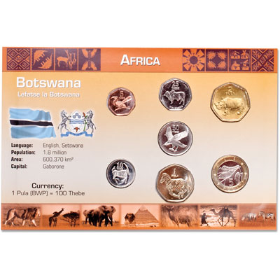 Image for Botswana Coin Set in Custom Holder from Littleton Coin Company