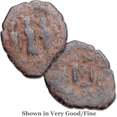 Image for A.D. 610-641 Heraclius Copper Follis from Littleton Coin Company