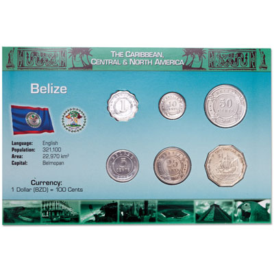 Image for Belize Coin Set in Custom Holder from Littleton Coin Company