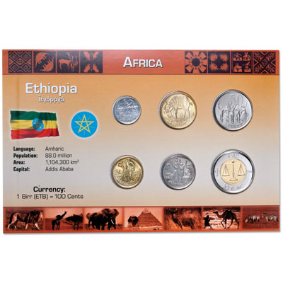 Image for Ethiopia Coin Set in Custom Holder from Littleton Coin Company