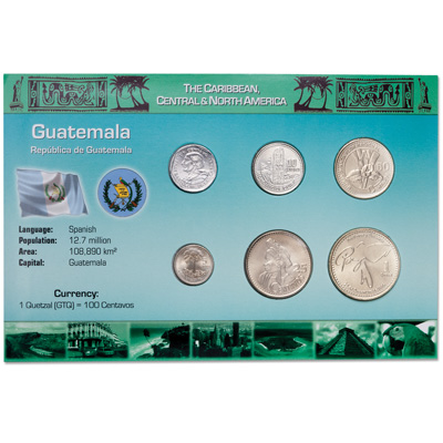 Image for Guatemala Coin Set in Custom Holder from Littleton Coin Company