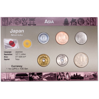 Image for Japan Coin Set in Custom Holder from Littleton Coin Company
