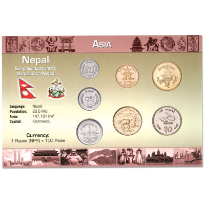 Image for Nepal Coin Set in Custom Holder from Littleton Coin Company