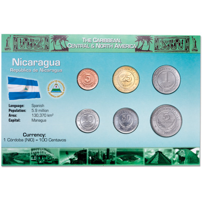 Image for Nicaragua Coin Set in Custom Holder from Littleton Coin Company