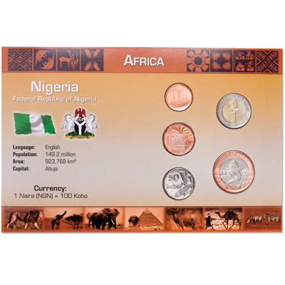 Image for Nigeria Coin Set in Custom Holder from Littleton Coin Company