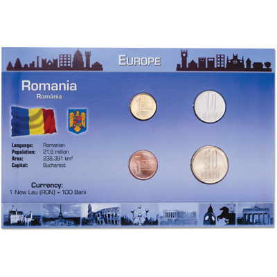Image for Romania Coin Set in Custom Holder from Littleton Coin Company