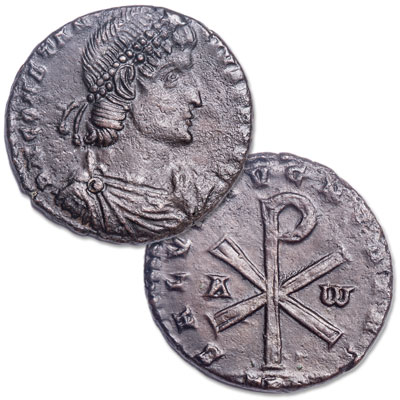 Image for A.D. 337-361Constantius II Chi-Rho Bronze Centenionalis, Bridgnorth Shropshire Hoard from Littleton Coin Company