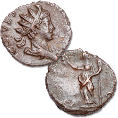 Image for A.D. 273-274 Tetricus II Bronze Antoninianus, La Rochelle Hoard from Littleton Coin Company