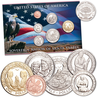 Image for 2012 Santa Ysabel Indian Nation Coin Set from Littleton Coin Company