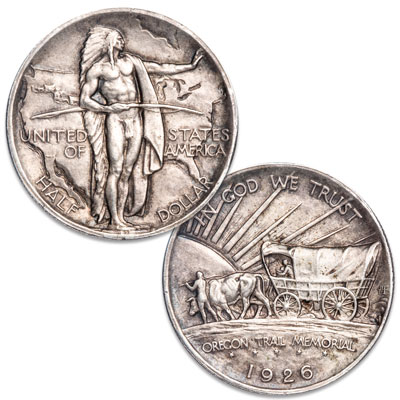 Image for 1926-1939 Silver Oregon Trail Commemorative Half Dollar from Littleton Coin Company