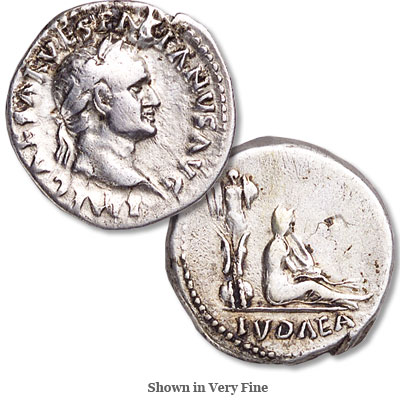 Image for A.D. 69-79 Vespasian Silver Judaea Capta Denarius from Littleton Coin Company