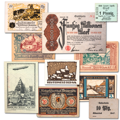 Image for 1914-1923 German Notgeld Notes (10 notes) from Littleton Coin Company