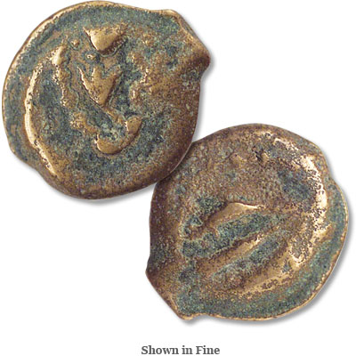 Image for 40-37 B.C. Mattathias Antigonus Bronze Prutah from Littleton Coin Company