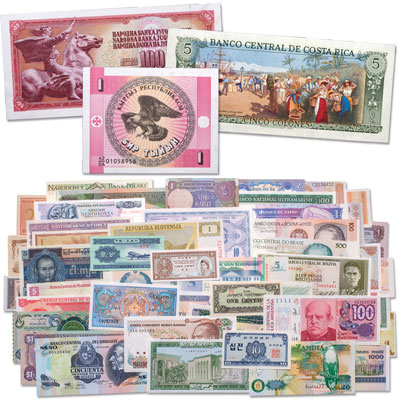 Image for 50 Notes from 50 Countries from Littleton Coin Company