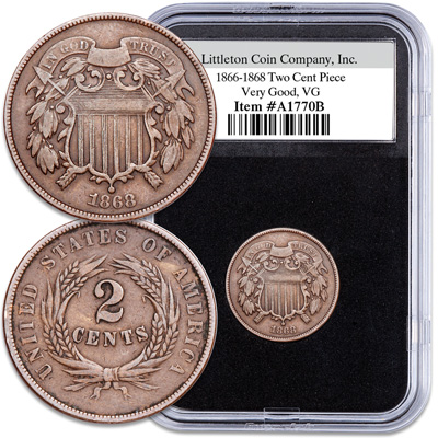 Image for 1866-1868 Two Cent Piece from Littleton Coin Company