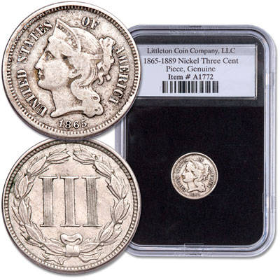 Image for 1865-1889 Nickel Three Cent Piece from Littleton Coin Company