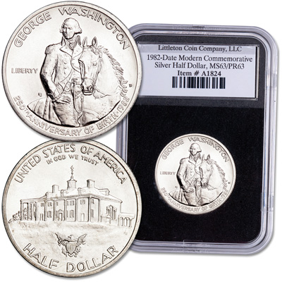 Image for 1982 George Washington Commemorative Half Dollar from Littleton Coin Company