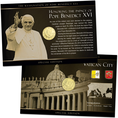 Image for Pope Benedict XVI Commemorative Coin Card from Littleton Coin Company