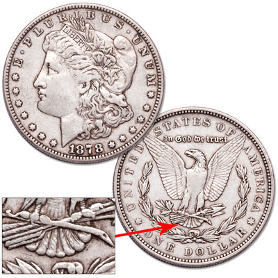 Image for 1878 Morgan Dollar, 7 Tail Feathers from Littleton Coin Company
