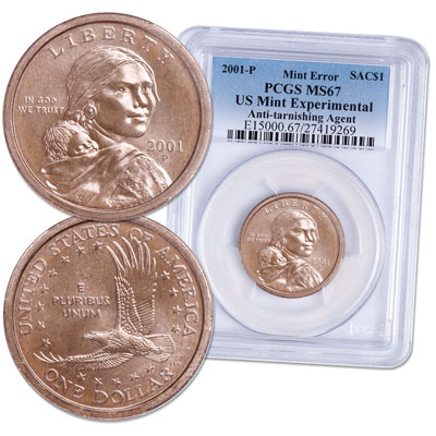 Image for 2001-P Sacagawea Dollar, Experimental Rinse from Littleton Coin Company