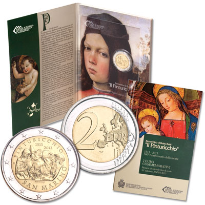 Image for 2013 San Marino 2 Euro Pinturicchio Commemorative from Littleton Coin Company