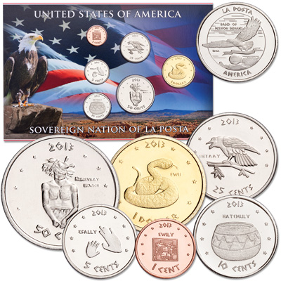 Image for 2013 La Posta Indian Nation Coin Set from Littleton Coin Company