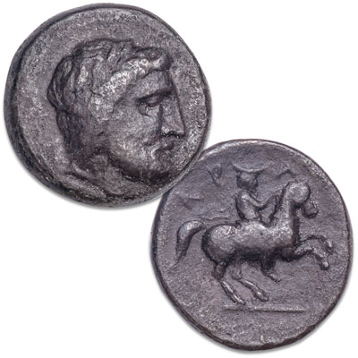 Image for 400-344 B.C. Thessaly, Krannon Bronze Horseman from Littleton Coin Company
