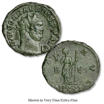 Image for A.D. 287-293 Carausius Bronze Antoninianus from Littleton Coin Company