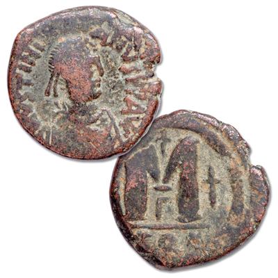 Image for A.D. 527-565 Justinian I Copper Follis from Littleton Coin Company