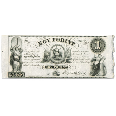 Image for 1852 Hungary 1 Forint Note from Littleton Coin Company