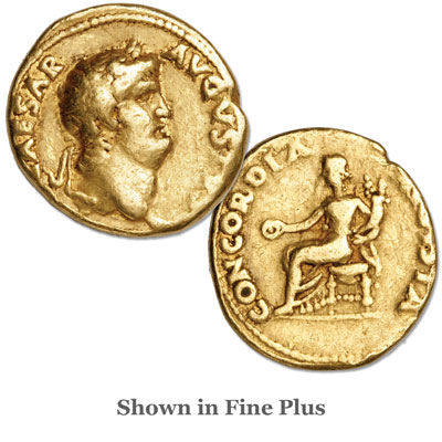 Image for A.D. 54-68 Nero Gold Aureus from Littleton Coin Company