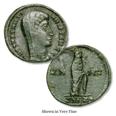 Image for A.D. 307-337 Constantine I Bronze Reduced Follis, Veiled from Littleton Coin Company