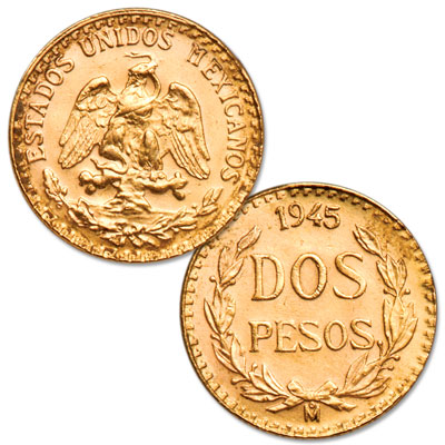 Image for 20th Century Mexico 2 Pesos Gold Re-strike from Littleton Coin Company