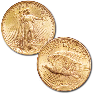 Image for 1908-1933 Saint-Gaudens $20 Gold Double Eagle from Littleton Coin Company