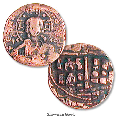 Image for 1028-1034 Romanus III Copper Follis Christ from Littleton Coin Company