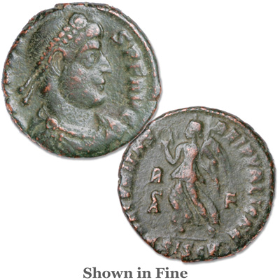 Image for A.D. 364-378 Valens Bronze Reduced Follis from Littleton Coin Company
