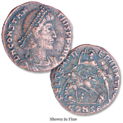Image for A.D. 337-361 Constantius II Bronze Reduced Follis from Littleton Coin Company