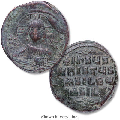 Image for A.D. 969-976 John I Bronze Follis Christ from Littleton Coin Company