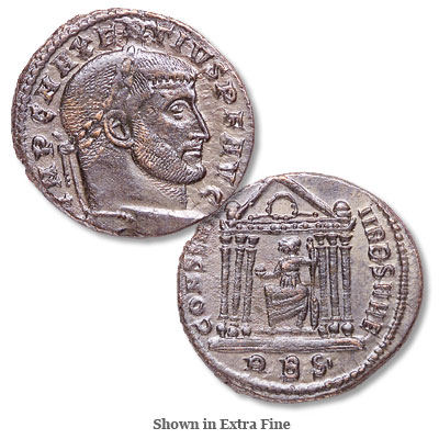 Image for A.D. 306-312 Maxentius Bronze Follis from Littleton Coin Company