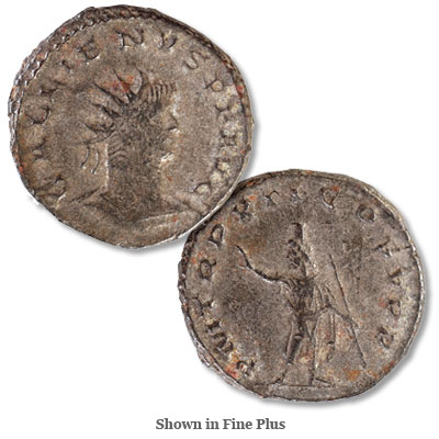 Image for A.D. 253-268 Gallienus Silver Billon from Littleton Coin Company