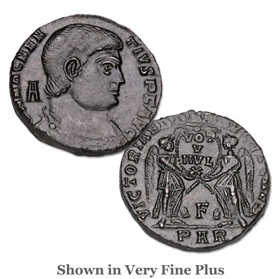 Image for A.D. 350-353 Magnentius Bronze Portrait from Littleton Coin Company