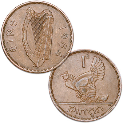 Image For 1928 1968 Ireland Bronze Penny From Littleton Coin Company