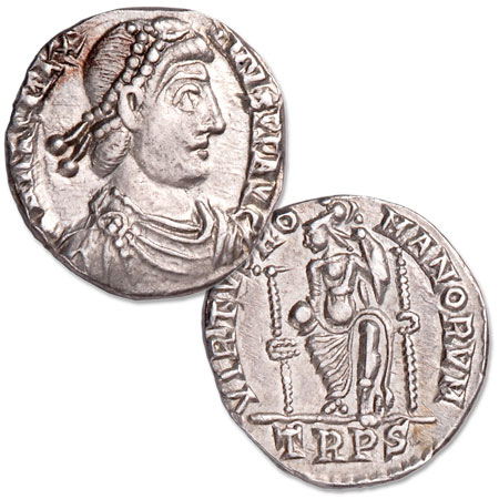 Image for A.D. 383-388 Magnus Maximus Silver Siliqua from Littleton Coin Company