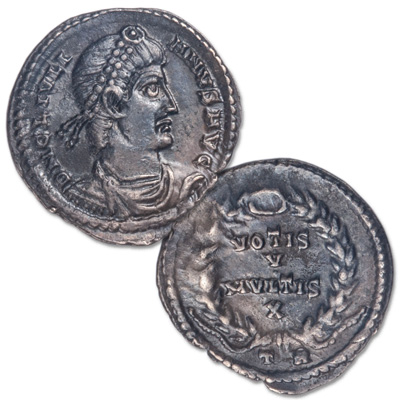 Image for A.D. 360-363 Julian II Silver Siliqua Harptree Hoard from Littleton Coin Company